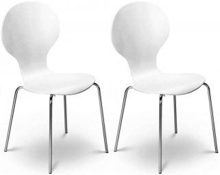 Julian Bowen Keeler Chair - White (Pair)