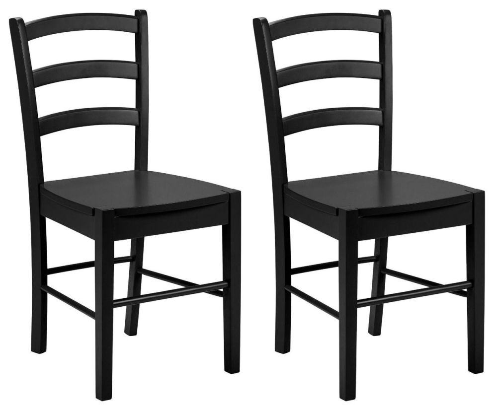 Julian Bowen Breton Black Dining Chair (Pair)