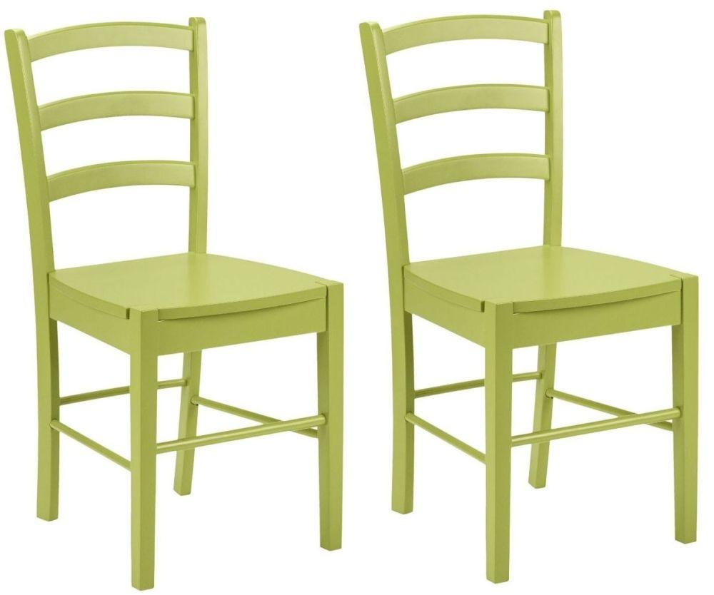 Julian Bowen Breton Green Dining Chair (Pair)