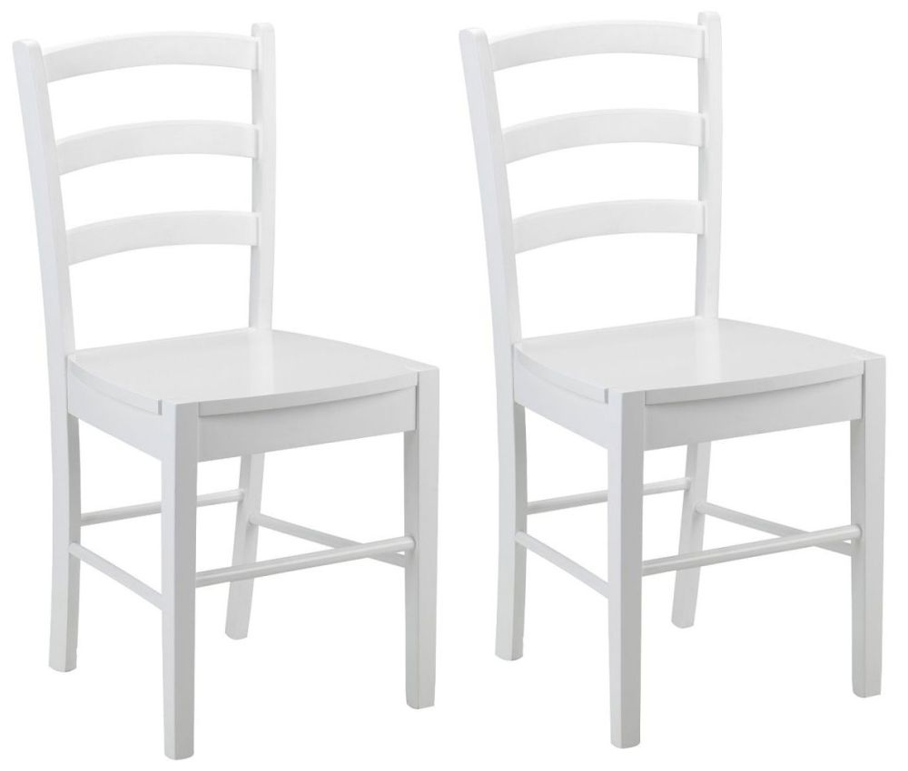 Julian Bowen Breton White Dining Chair (Pair)