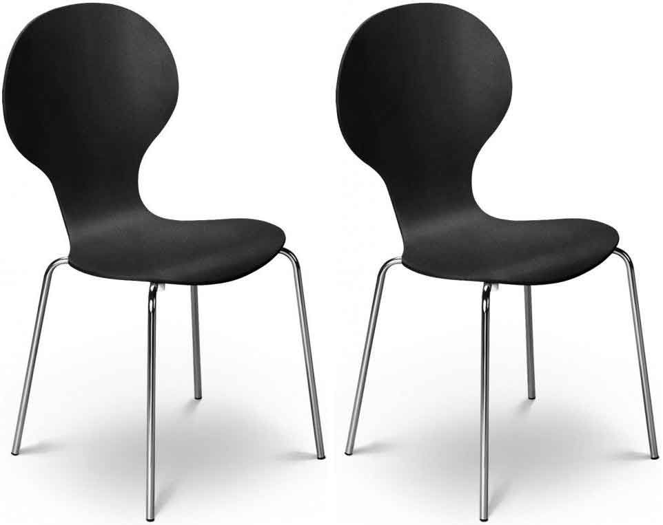 Julian Bowen Keeler Chair - Black (Pair)