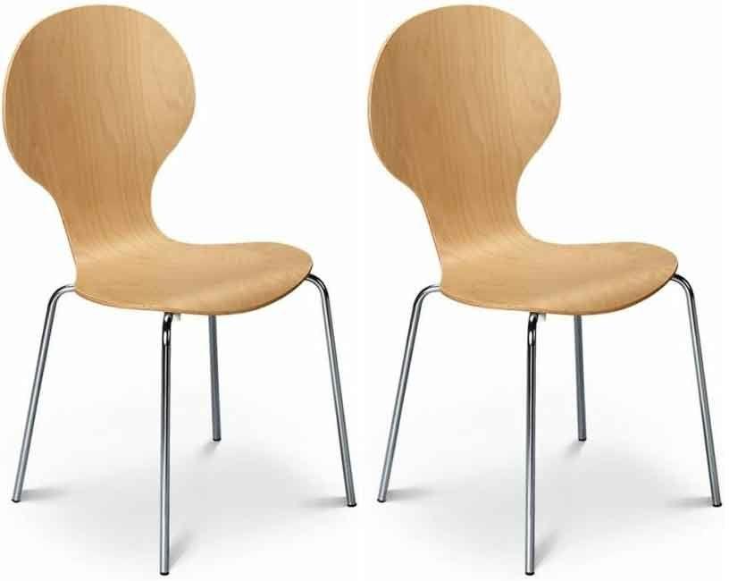 Julian Bowen Keeler Chair - Maple (Pair)