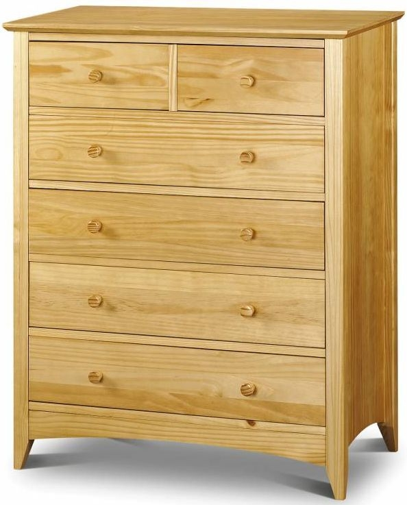Julian Bowen Kendal Pine Chest of Drawer - 4 + 2 Drawers