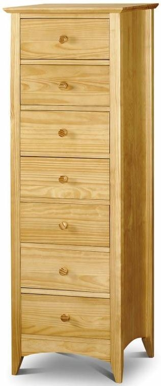 Julian Bowen Kendal Pine Chest of Drawer - Narrow 7 Drawers
