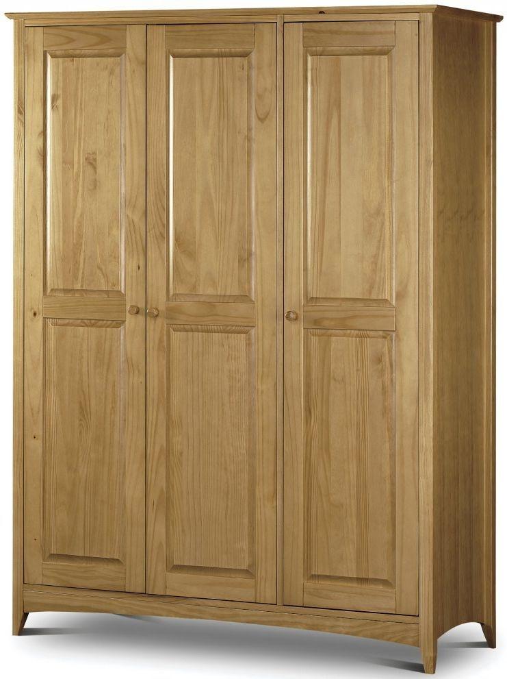 Julian Bowen Kendal Pine Triple Wardrobe - 3 Door