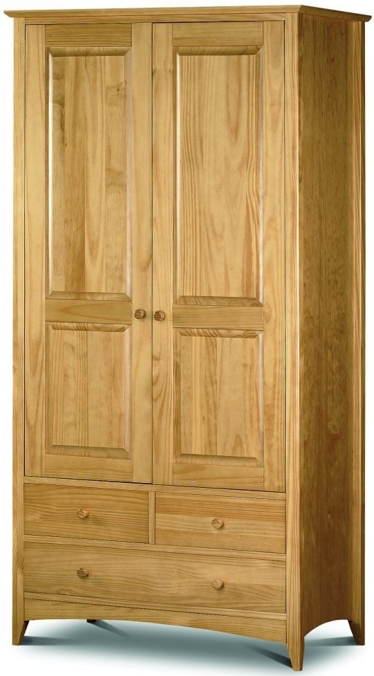 Julian Bowen Kendal Pine Combination Double Wardrobe - 2 Door 2 Drawer