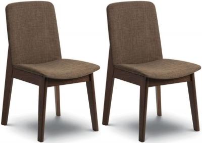 Julian Bowen Kensington Walnut Dining Chair (Pair)