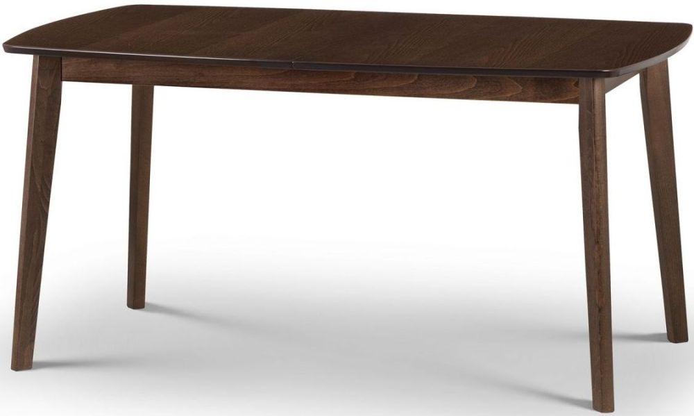 Julian Bowen Kensington Walnut Rectangular Extending Dining Table - 150cm-195cm