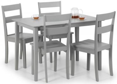 Julian Bowen Kobe Grey Dining Table and 4 Chairs