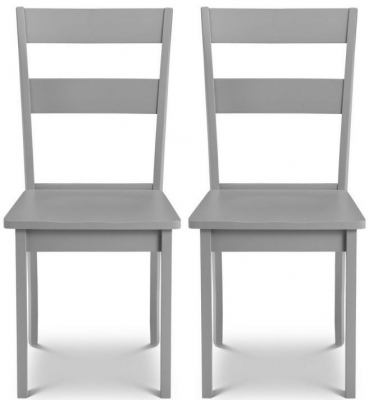 Julian Bowen Kobe Lunar Grey Dining Chair (Pair)