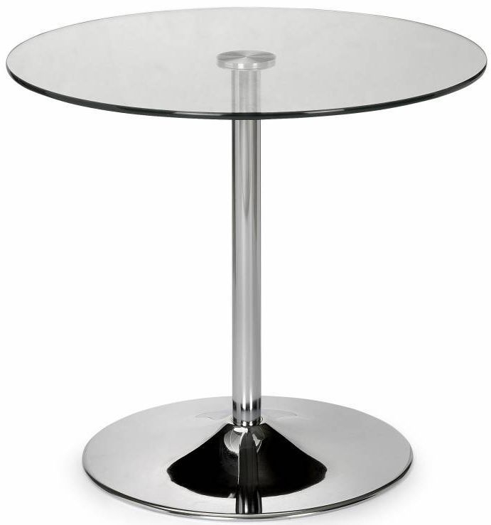 Julian Bowen Kudos Round Dining Table - Glass and Chrome
