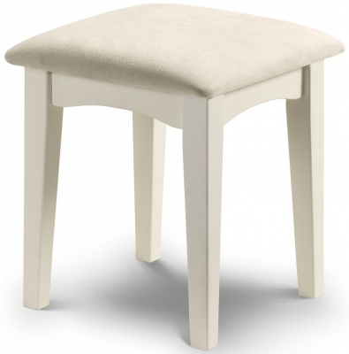 Julian Bowen La Rochelle White Dressing Stool