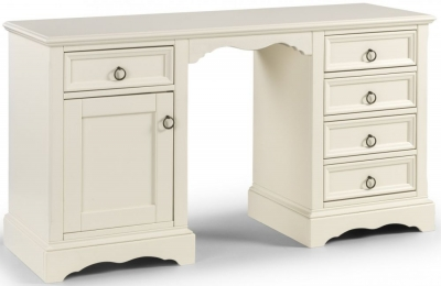 Julian Bowen La Rochelle White Twin Pedestal Dressing Table