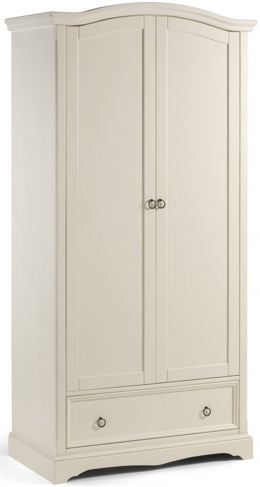 Julian Bowen La Rochelle White Combination Wardrobe  - 2 Door 1 Drawer