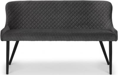 Julian Bowen Luxe Grey Velvet Bench