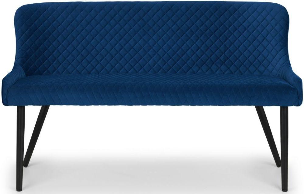 Julian Bowen Luxe Blue Velvet Bench