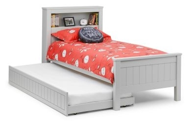 Julian Bowen Maine Dove Grey Bookcase Bed