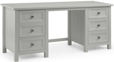 Julian Bowen Maine Dove Grey 6 Drawer Dressing Table