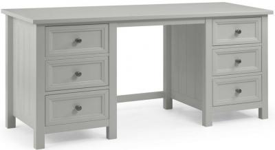 Julian Bowen Maine Dove Grey 6 Drawer Dressing Table
