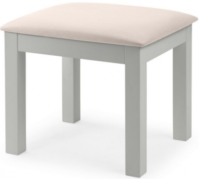 Julian Bowen Maine Dove Grey Dressing Stool
