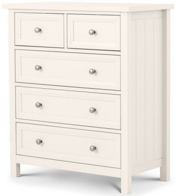 Julian Bowen Maine White 3+2 Drawer Chest
