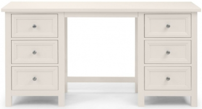 Julian Bowen Maine White 6 Drawer Dressing Table