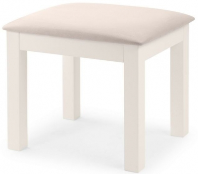 Julian Bowen Maine White Dressing Stool