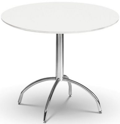 Julian Bowen Mandy White Round Dining Table - 90cm