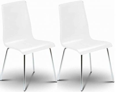 Julian Bowen Mandy White Dining Chair (Pair)