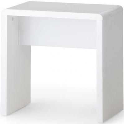Julian Bowen Manhattan White High Gloss Bedroom Stool