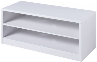 Julian Bowen Manhattan White High Gloss TV Unit