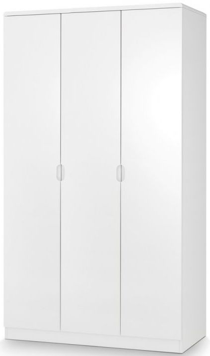 Julian Bowen Manhattan White High Gloss 3 Door Triple Wardrobe