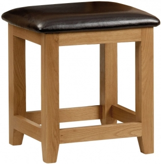 Julian Bowen Marlborough Oak Dressing Stool