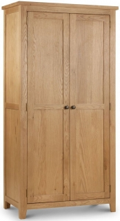 Julian Bowen Marlborough Oak Wardrobe - 2 Doors