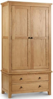 Julian Bowen Marlborough Oak Wardrobe - Combination 2 Doors 2 Drawers