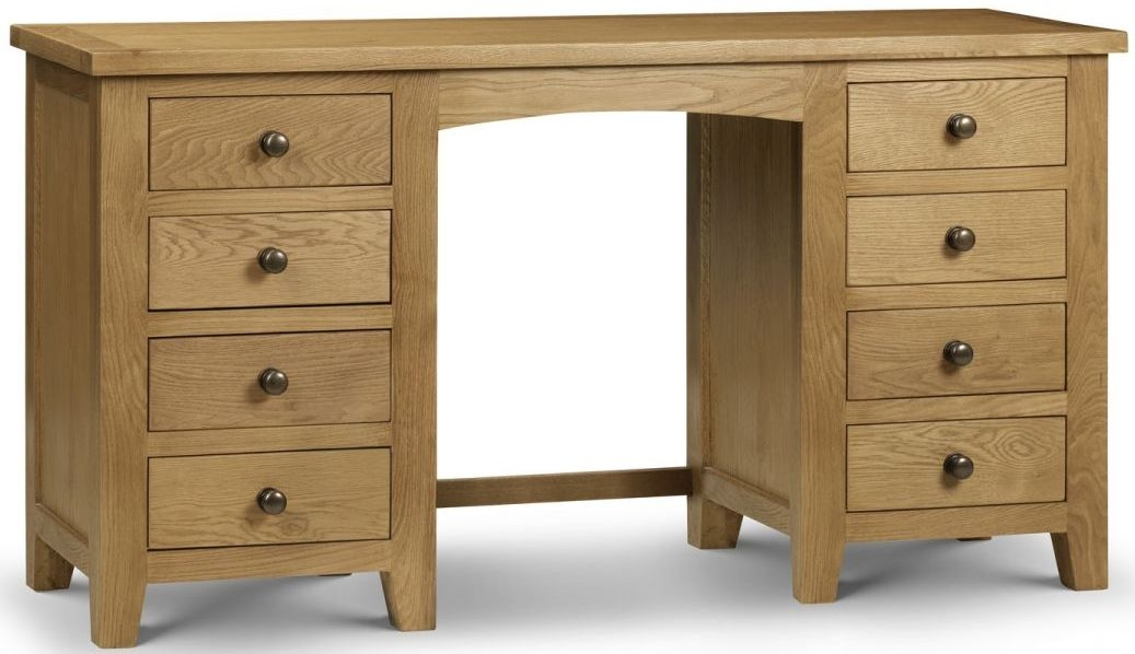 Julian Bowen Marlborough Oak 8 Drawer Dressing Table