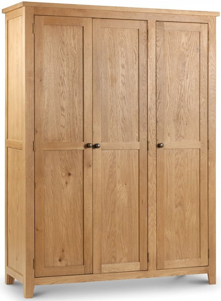 Julian Bowen Marlborough Oak 3 Door Wardrobe