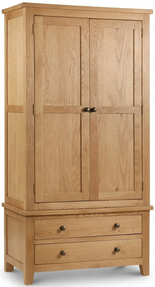 Julian Bowen Marlborough Oak Combination Double Wardrobe - 2 Door 2 Drawer