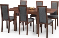 Julian Bowen Melrose Walnut Extending Dining Table and 6 Chairs