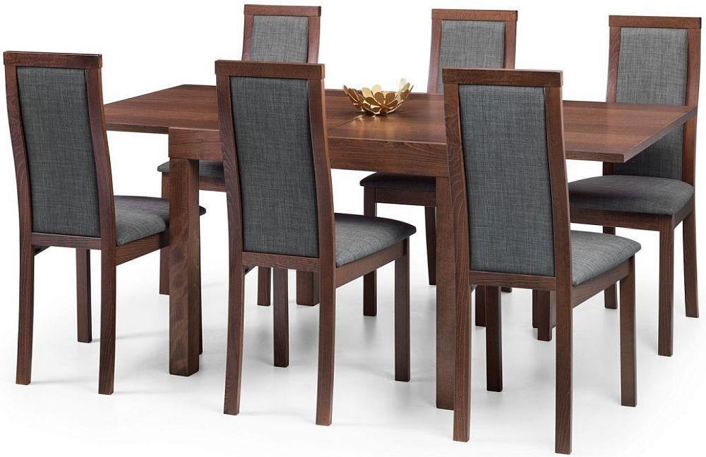 Julian Bowen Melrose Walnut Extending Dining Table and 6 Chairs