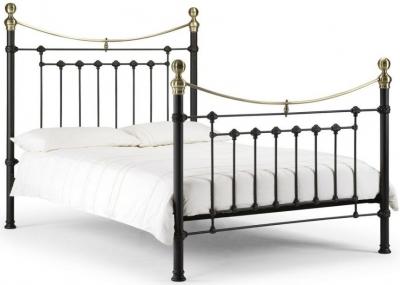 Julian Bowen Victoria Satin Black Bed