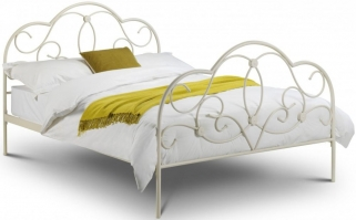 Julian Bowen Arabella White Metal Bed