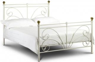 Julian Bowen Cadiz Ivory Metal Bed