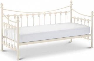 Julian Bowen Versailles White Metal Day Bed
