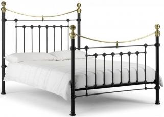 Julian Bowen Victoria Black Metal Bed