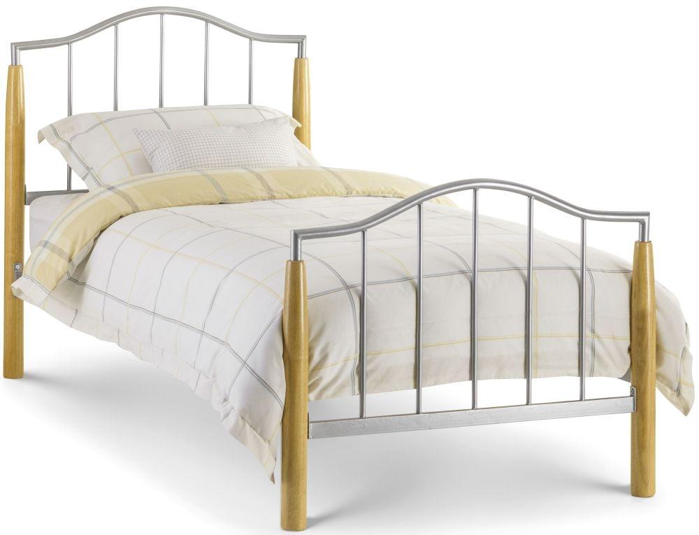 Julian Bowen Carmel Bed - Oak and Metal