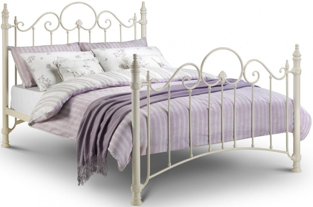 Julian Bowen Florence White Metal Bed