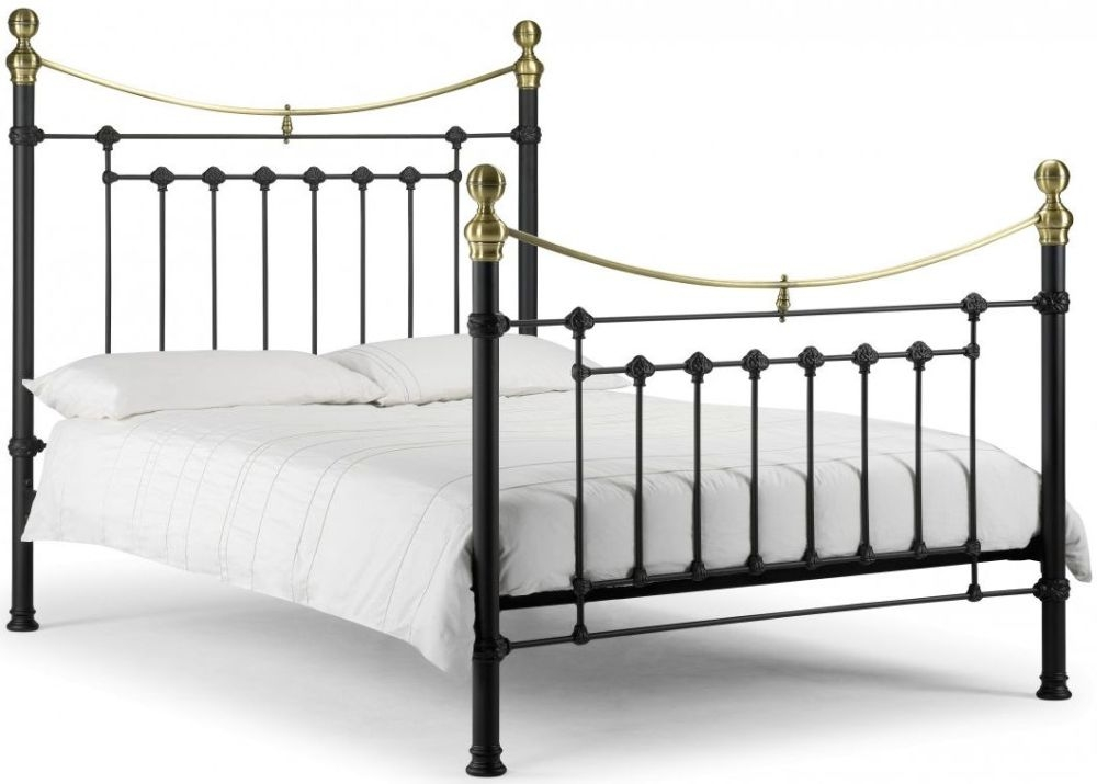 Julian Bowen Victoria Black Metal Bed