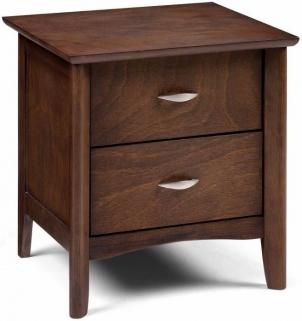 Julian Bowen Minuet Wenge Bedside Cabinet - 2 Drawers
