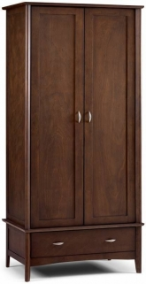 Julian Bowen Minuet Wenge Wardrobe - 2 Door 1 Drawer